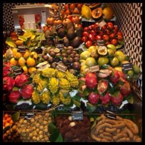 boqueria fruta maraton barcelona