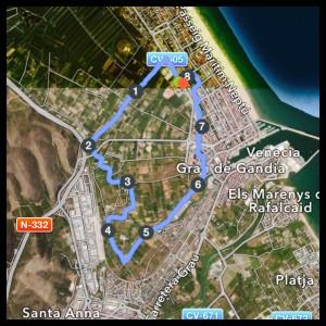recorrido 8 km marjal gandia luciapascual